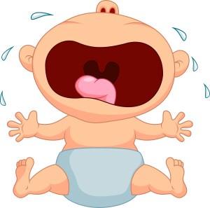 Tantruming baby